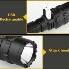 xanes 1102 l2 5modes 1600 lumens usb rechargeable camping hunting led flashlight 18650 Sale - Banggood.com Holiday Lights, Led Flashlight, Led Strip, Strip Lighting, Aluminium Alloy, Hunting, Bulb, Camping, Campsite