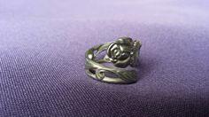 Prachtige vintage zilveren ring Roos.