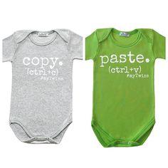 Twin Onesies Copy Paste