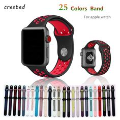 0ff8a10fd0f Silicone strap for apple watch band bracelet sport wrist belt Rubber  watchband for iwatch Nike+metal Adapter