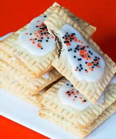 Easy Nutella poptarts...fabulous. Use colored sprinkles for each holiday to dress them up.