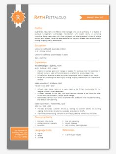 ms word resume format