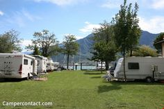 Camperplaats Domaso (Camping North Wind)   Campercontact noord como