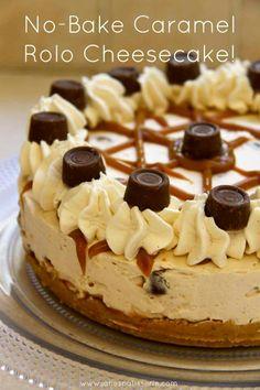 No bake Rolo cheesecake