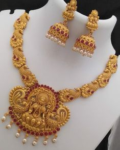 Ethnic Matte Finish Temple Jewellery Set Color: Multicoloured Material: Alloy Delivery: Within business days Returns: Within 7 days of delivery. No questions asked Gold Plated Necklace, Gold Necklace, Delhi Girls, Look Fashion, Womens Fashion, Temple Jewellery, Saree Styles, Jewelry Sets, Crochet Necklace