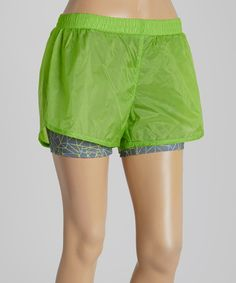 Look what I found on #zulily! Jasmine Green Two-in-One Shorts by Umbro #zulilyfinds