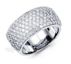 diamond rings | Pave Diamond Ring - Half Pave