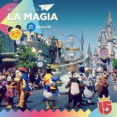 La aventura más mágica de todas empieza para el grupo #azulJ16 que hoy sale rumbo a #Disney con #Enjoy15!  Vuelo: AR 1302 - Seguilo en: http://clyck.com.ar/ARG1302