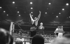 Spoiler II about to face Wahoo McDaniels.  I think this is in Florida which would make this Bobby Duncum.  Spoiler II in the Mid Atlantic was Butcher Vachon and IIRC didn't wear an identical ring outfit like Duncum did.