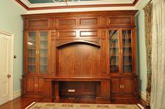 Mahogany Georgian Library Bookcase with Desk