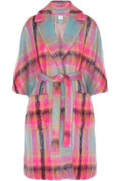 Our Vintage YSL plaid mohair coat reminds me of this current DELPOZO coat!  Check it out here!   http://www.riceandbeansvintage.com/collections/vintage-designer-outerwear/products/vintage-80s-yves-saint-laurent-technicolor-plaid-wool-coat-w-two-tone-wooden-buttons
