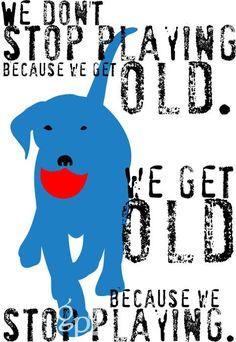 Labrador Retriever Dog Art Wall Art with Red Ball Inspirational Quote. $14.00, via Etsy.