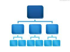 Organization Chart Icon, Free, Graphic Design, Icon, PSD, Resource
