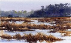 Tidal Marsh by Joe Garcia  ~ 6.5 x 10.5