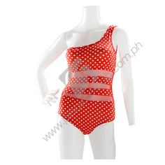 Orange polka-dots with mesh insets and one shoulder one piece swimwear  Path Swimsuit  Category: Swimwear Name: Path Swimsuit Model: PSPS1899 Manufacturer: Kurba  PHP1,200.00  Manufacturer: Kurba Size: S/M Materials: Spandex Color: Orange and White Feature: 1 piece  http://www.pleasureshop.com.ph/sextoys/path-swimsuit.html