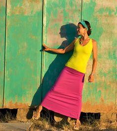 Nomad Skirt organic cotton  organic clothing by DamselflyOrganics
