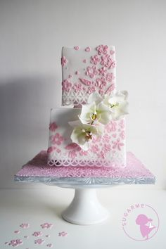 Sugar Orchid Cake by Sugar Me Kissery VISIONARY PATISSERIE BY  SUGAR ME KISSERY info@sugarmehk.com