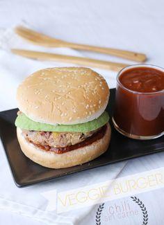 Veggie burger : Chili sin carne style