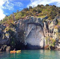 Works of art. #NZMustDo [📍Mine Bay, Lake Taupo. ���