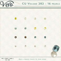 Commercial Use :: Elements :: CU Volume 282 [16 pearls - Various colors]