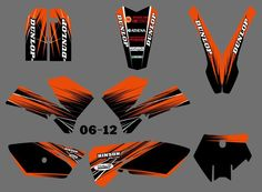 New  (0556Orange&Black ) TEAM GRAPHICS&BACKGROUNDS DECALS STICKERS Kits for KTM 85 SX 2006 2007 2008 2009 2010 2011 2012 #Affiliate