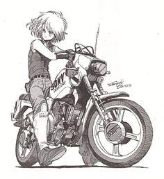 Ideas bike illustration girl character design for 2019 Character Poses, Character Design References, Character Concept, Character Art, Concept Art, Manga Anime, Manga Art, Anime Art, Art Moto
