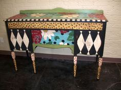 #painted desk