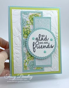 Handmade card featuring the stamp set Incredible Like You and the limited time only, Painted Seasons Designer Series Paper. Created by Tracy Bradley  www.stampingwitht...
