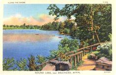 Round Lake near Brainerd, Minnesota Postcard