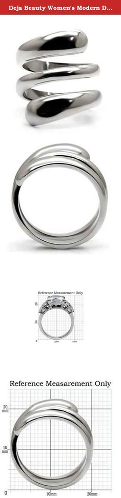 Deja Beauty Women's Modern Designer Twist Tusk 316 High Polished Stainless Steel Ring, Size 9. Stainless steel jewelry is durable and does not tarnish. Not only is stainless steel one of the strongest metals, it also does not oxidize. Stainless steel jewelry can be easily cleaned with warm water and a clean cloth, thus forgoing purchasing expensive jewelry cleaners. In addition, those who are allergic to nickel can wear stainless steel jewelry as it is a hypo-allergenic product.
