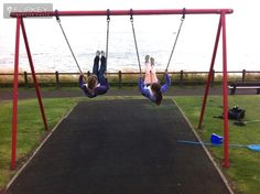 """FlipKey - Guests at Sandcastle Cottage (http://2crail.co.uk) posted this photo with the caption """"Best place for a swing, ever!"""" - at Roome Bay park, Crail.  Overlooking the sea."""