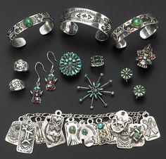 A collection of Southwest jewelry