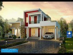 1727 sq-ft house | Villas | Pinterest | Modern house design, House ...