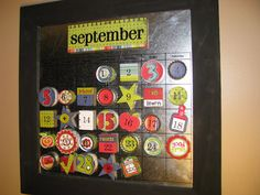 September Magnetic Calendar - Clean and Scentsible Cute Calendar, Magnetic Calendar, School Calendar, Calendar Ideas, September Calendar, September Baby, Back To School Organization, Classroom Organization, Classroom Decor