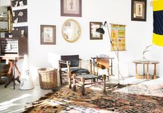 A first look at Bellwether Rug's new collection featuring lots vintage, hand-knotted rugs. Photography by Sarah Dorio.
