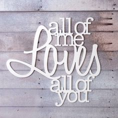 "Wall Hanging Sign for Bedroom Decor ""All of Me..."" Wall Artwork – Z Create Design"