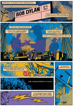 Rafael Grampá relata em quadrinhos show do Bob Dylan em SP