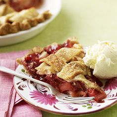 Rhubarb and strawberries are a timeless favorite. Serve this scrumptious dessert warm with a scoop of vanilla ice cream.