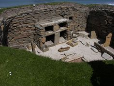 Neolithic in Europe. Skara Brae, Scotland. Evidence of home furnishings (shelves). Consisting of eight clustered houses, it was occupied from roughly 3180 BC to about 2500 BC. Europe's most complete Neolithic village, Skara Brae gained UNESCO World Heritage Site status.
