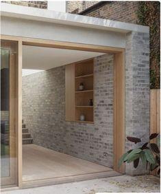 Al-Jawad Pike Private House, Stoke Newington, London — Architecture Brick Architecture, London Architecture, Architecture Details, Interior Architecture, Futuristic Architecture, Timber Window Frames, Timber Windows, Wood Frames, Exterior Design