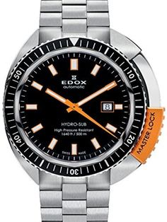 Edox Men's 80301 3NOM NIN Hydro Sub Analog Display Swiss Automatic Silver Watch by Edox -- Awesome products selected by Anna Churchill