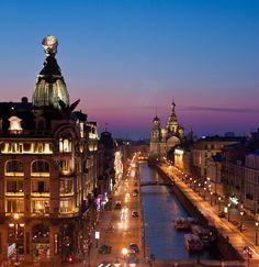 Ночные улицы Центрального района.