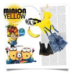 """""""Minion fun"""" by creationnation ❤ liked on Polyvore featuring Dr. Martens, Kate Spade and H&M"""