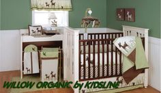 whitetail deer white tail deer forest hunting theme baby nursery crib bedding nursery sets