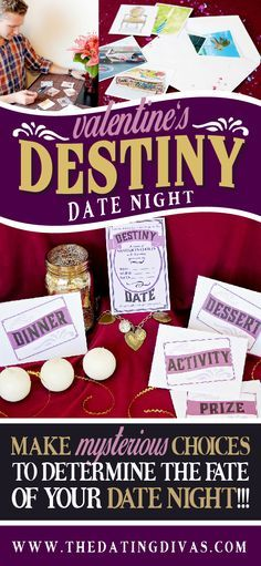 Mystery cards decide what you do on your date night! SUPER fun idea! www.TheDatingDivas.com