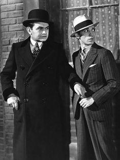 Edward G. Robinson and George E. Stone in Little Caesar (Hampa Dorada), 1931
