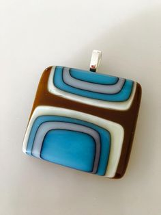 Handmade, fused glass jewelry by Miss Olivia's Line. Additional items posted at… Fused Glass Ornaments, Fused Glass Jewelry, Fused Glass Art, Ceramic Jewelry, Glass Pendants, Mosaic Glass, Slumped Glass, Dichroic Glass, Nail Polish Jewelry