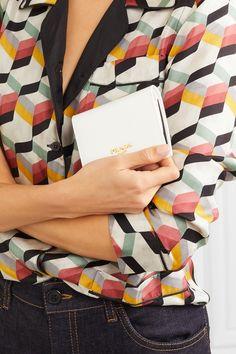 Prada | Textured-leather wallet | NET-A-PORTER.COM