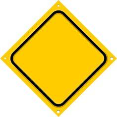 road sign diagonal blank