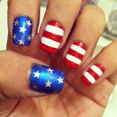 patriotic nail art.
